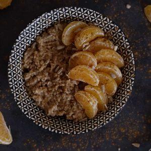 Ontbijtinspiratie: Havermout met mandarijnen