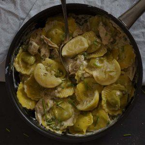 Ravioli met citroensaus