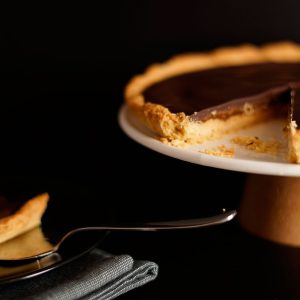 caramel shortbread taart